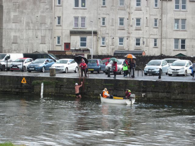 The Tay Swimmers finally come ashore (Couresty of Rhona and Dougie McNeil)