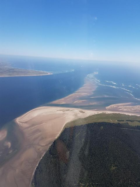 Aerial view down the Tay - notice all the sand banks